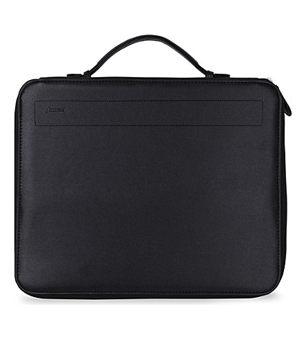 FILOFAX A4 pennybridge zipped folio handle black