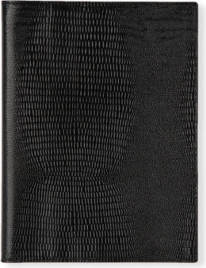 FILOFAX A5 Flex lizard print leather cover and notebook