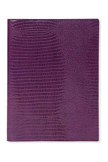 FILOFAX A5 Flex lizard-print leather notebook cover