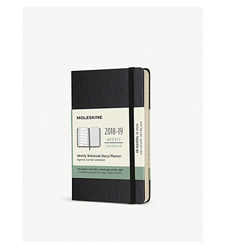 MOLESKINE 12-month weekly hardcover pocket diary