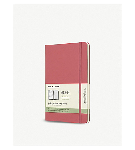 MOLESKINE Weekly 18-month diary/planner 2018/19 21cm