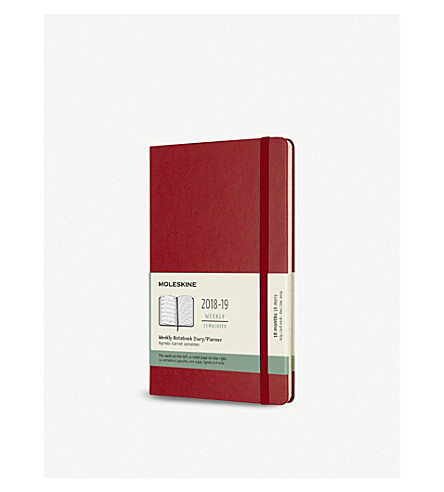 MOLESKINE 12-month weekly hardcover large diary
