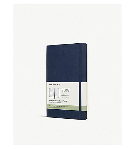 MOLESKINE 2019 12-week leather notebook/diary planner