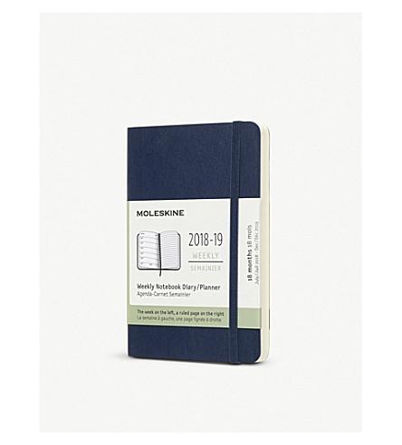 MOLESKINE Weekly 18-month pocket diary/planner 2018/19 14cm