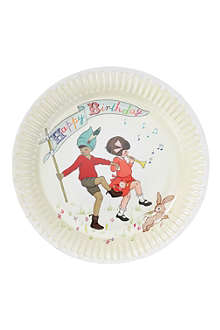 TALKING TABLES Belle & Boo party plates pack of eight