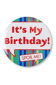 TALKING TABLES Big Birthday badge