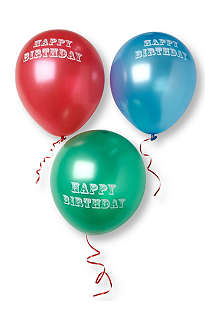 TALKING TABLES Happy Birthday balloons set of 12