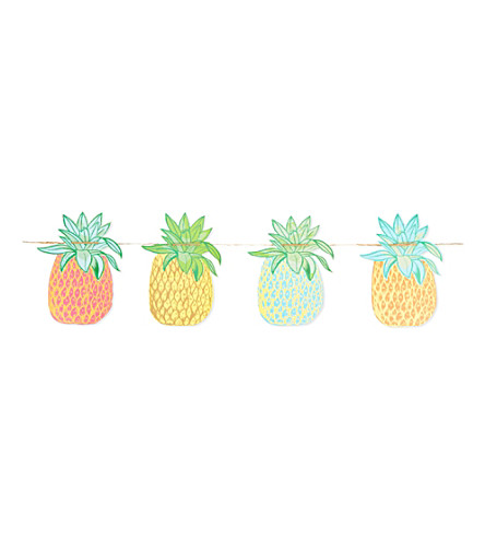 TALKING TABLES Pineapple garland 3.5m