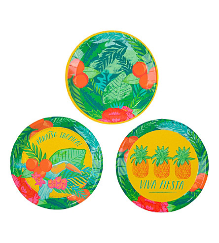 TALKING TABLES Tropical Fiesta canape paper plates