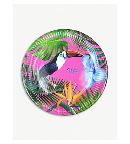 TALKING TABLES Tropical Fiesta paper plates pack of 12