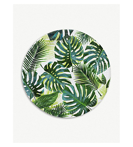 TALKING TABLES Tropical Fiesta paper plates pack of eight