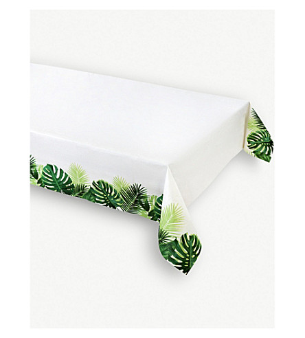 TALKING TABLES Tropical Fiesta paper table cover 120x180cm