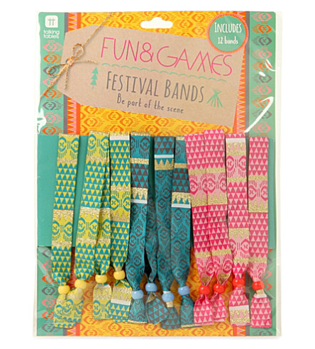 TALKING TABLES Festival wristbands