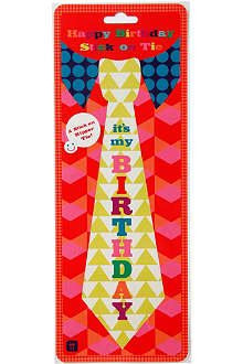 TALKING TABLES Birthday Bash tie sticker