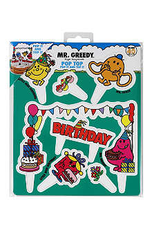 TALKING TABLES Mr. Men Pop Top cake toppers