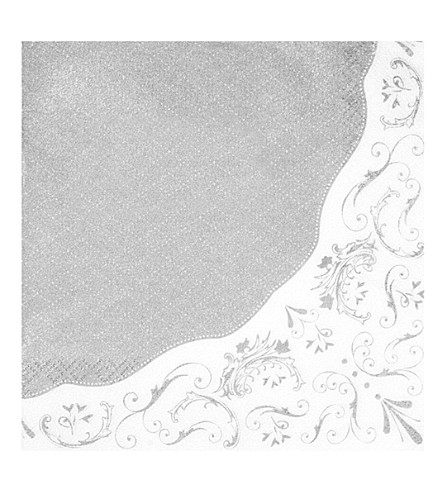 TALKING TABLES Party Porcelain silver paper napkins