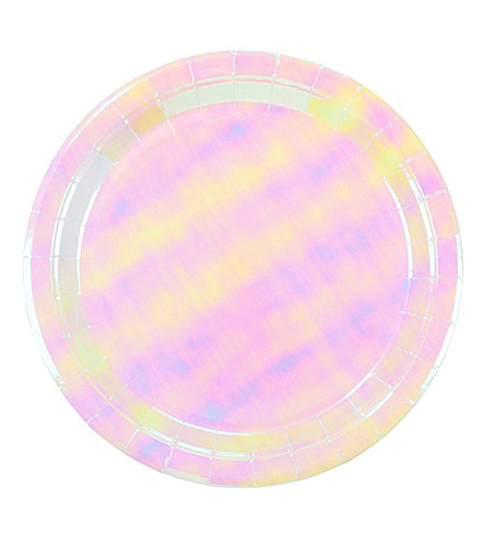 TALKING TABLES We Heart Unicorns iridescent paper plates