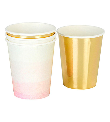 TALKING TABLES 'We Heart Pink' paper cups