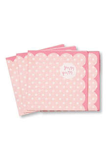 TALKING TABLES Pink spotted napkins set of 20