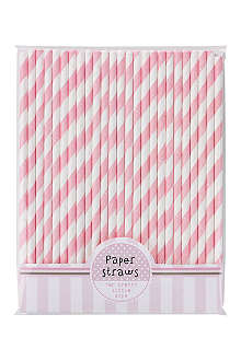 TALKING TABLES Pack of 25 Pink n Mix paper straws