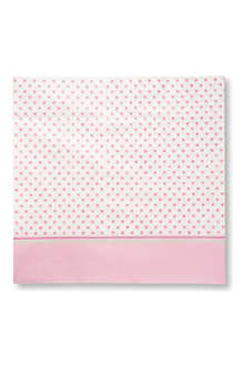TALKING TABLES Pink polka dot table cover