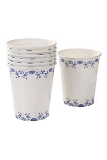 TALKING TABLES Pack of 12 porcelain-design paper cups