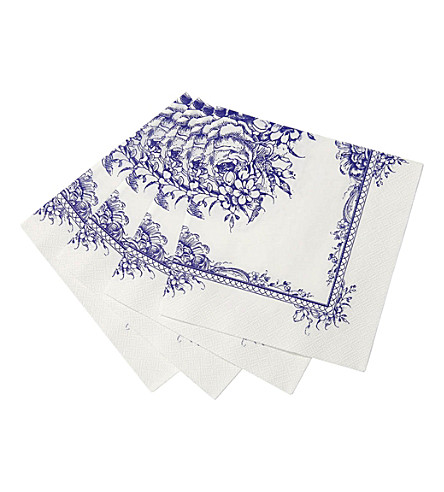 TALKING TABLES Floral napkins set of 16
