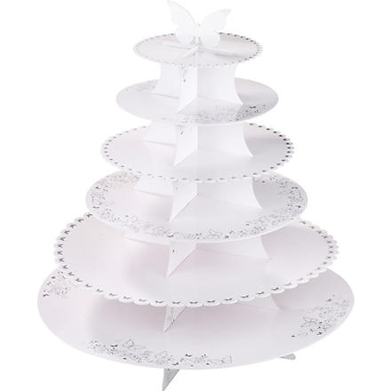 TALKING TABLES Six tier cake stand