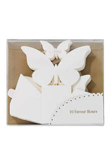 TALKING TABLES Set of 10 butterfly favour boxes
