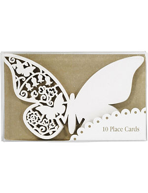 TALKING TABLES Pack of ten Butterfly place cards