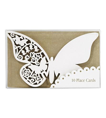 TALKING TABLES 十只蝴蝶地方卡片的包