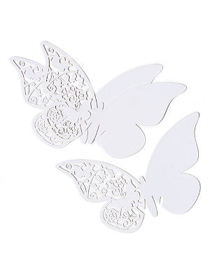TALKING TABLES Butterfly place cards pack of ten