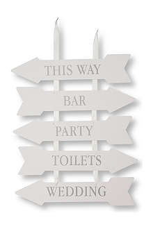 TALKING TABLES Venue signs set of five