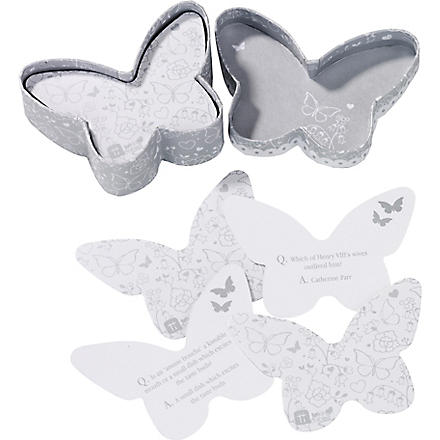 TALKING TABLES Butterfly trivia box