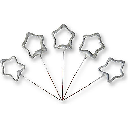 TALKING TABLES Star sparklers box of five