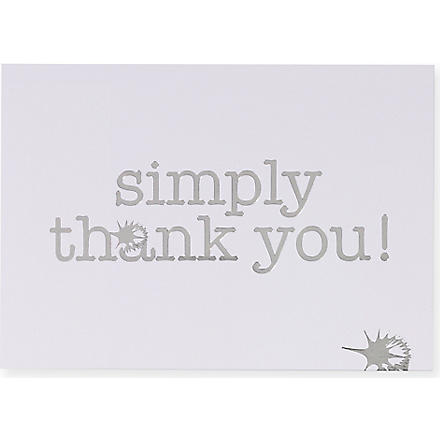 TALKING TABLES Set of ten thank you cards