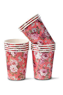 TALKING TABLES Floral printed paper cups set of 12