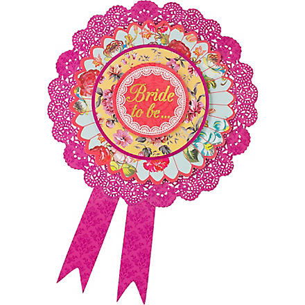 TALKING TABLES Bride to be rosette