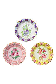 TALKING TABLES Floral paper plates pack of twelve