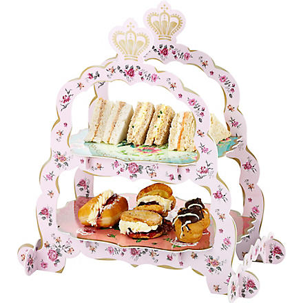 TALKING TABLES Two tier sandwich and cake stand