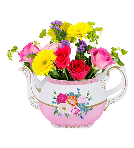 TALKING TABLES Floral teapot vase