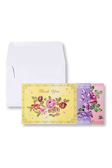 TALKING TABLES Floral set of 12 thank you cards