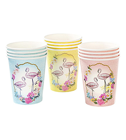 TALKING TABLES Flamingo paper cups