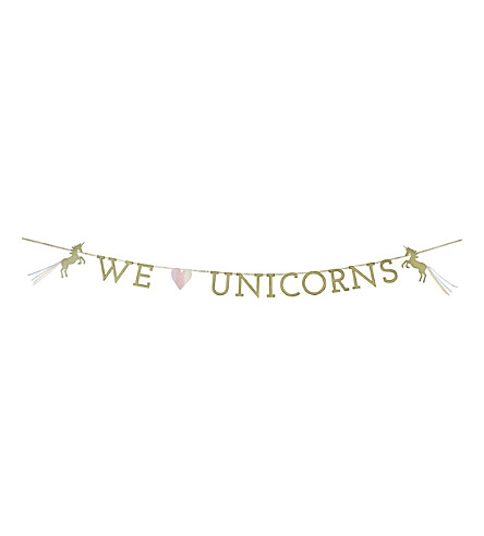 TALKING TABLES We Heart Unicorns garland