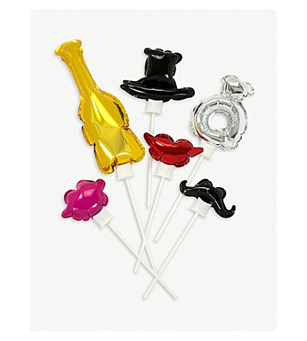 TALKING TABLES Foil balloon photobooth props set of six