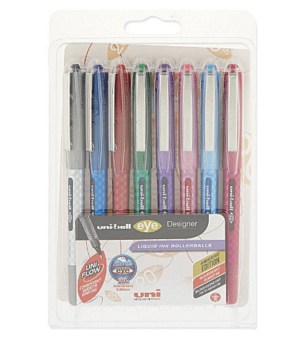 MITSUBISHI PENCIL CO Liquid ink rollerballs 8-pack