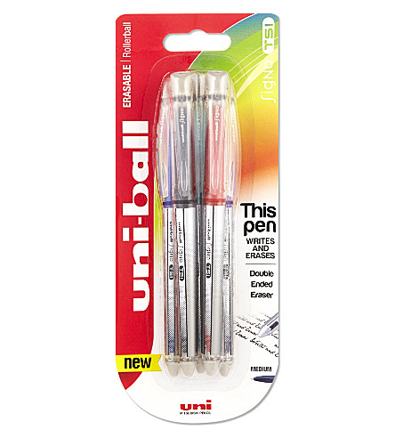 MITSUBISHI PENCIL CO Uni-ball Signo TSI Erasable rollerball pen set