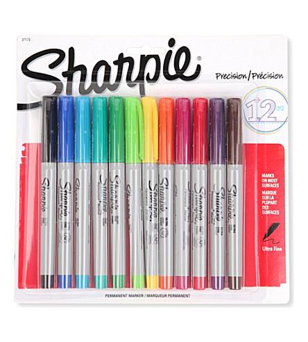 SHARPIE 包的 12 超细永久标记