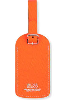 UNDER COVER Leather luggage label orange