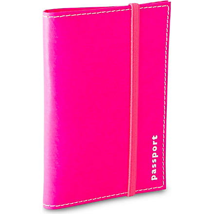 UNDER COVER Leather passport holder